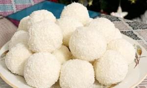 Bomboane cu vanilie şi cocos