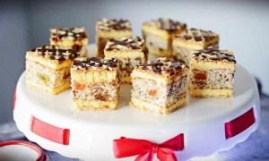 Prăjitură Krantz cu fructe confiate