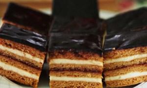 Prăjitură cu miere şi ciocolată