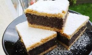 Prăjitură din foi cu gem de prune