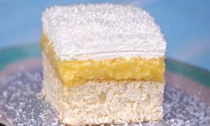 Prăjitură cu crema de nuca de cocos