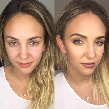 before and after - special event makeup