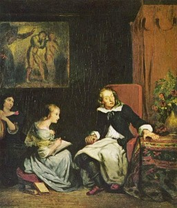 Milton Dictates to His  Daughters - Wikimedia