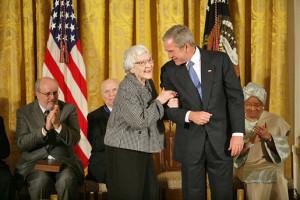 Harper Lee, Receiving the Presidential Medal of Freedom in 2007