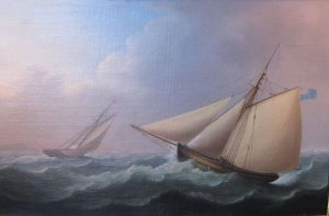 Cutters in Pursuit in a Stiff Breeze, by Thomas Buttersworth