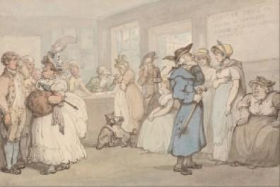 Rowlandson: Register Office for the Hiring of Servants