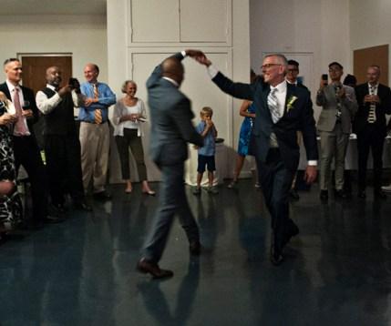 Same-sex wedding in NYC. Photo by Alina Oswald.