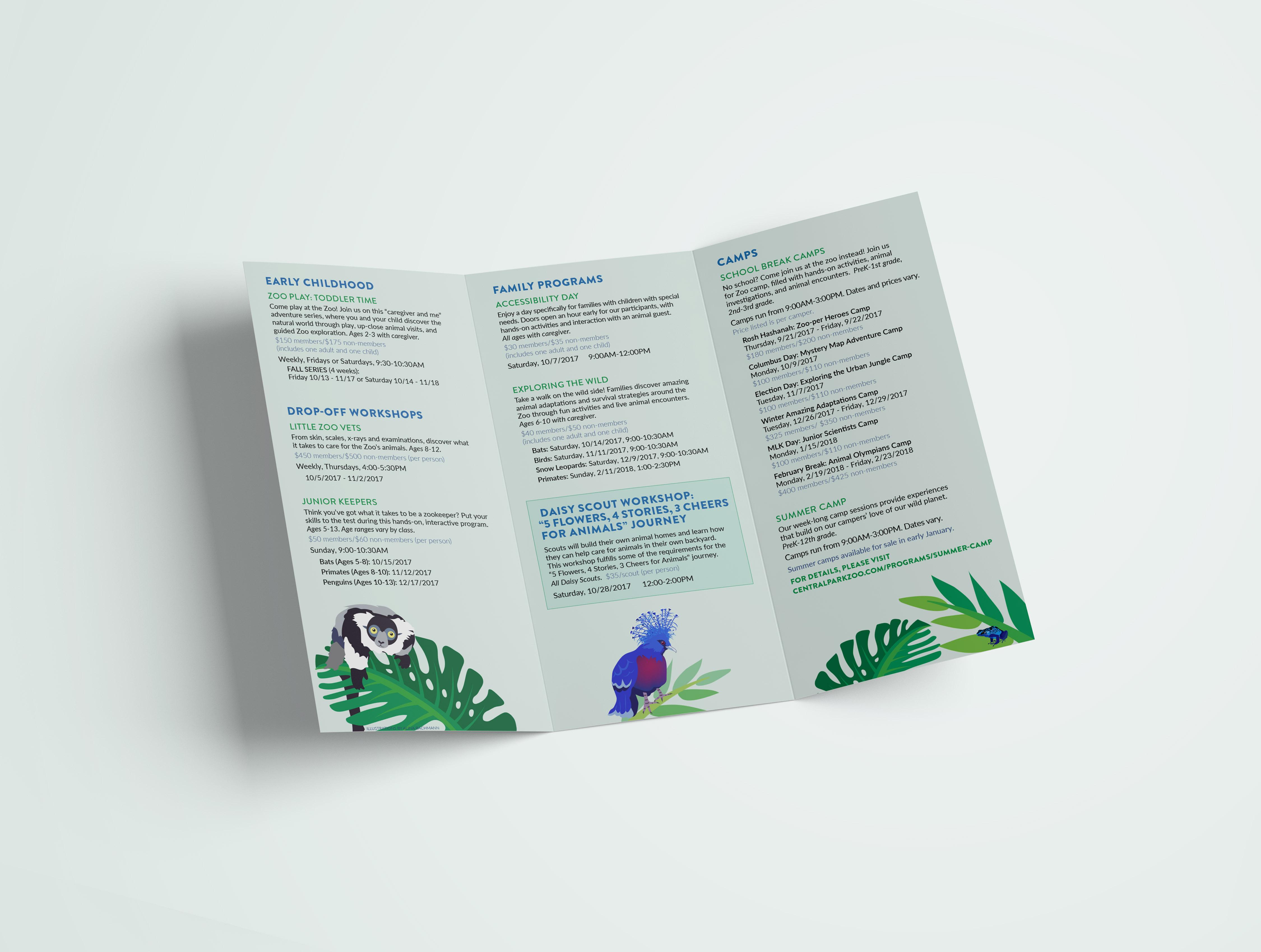 Central Park Zoo Brochure