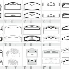 1000 DXF Beds, finished design, for 2D milling on cnc machine
