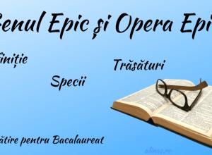 Genul Epic și Opera Epică