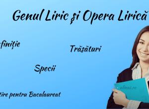 Genul Liric și Opera Lirică