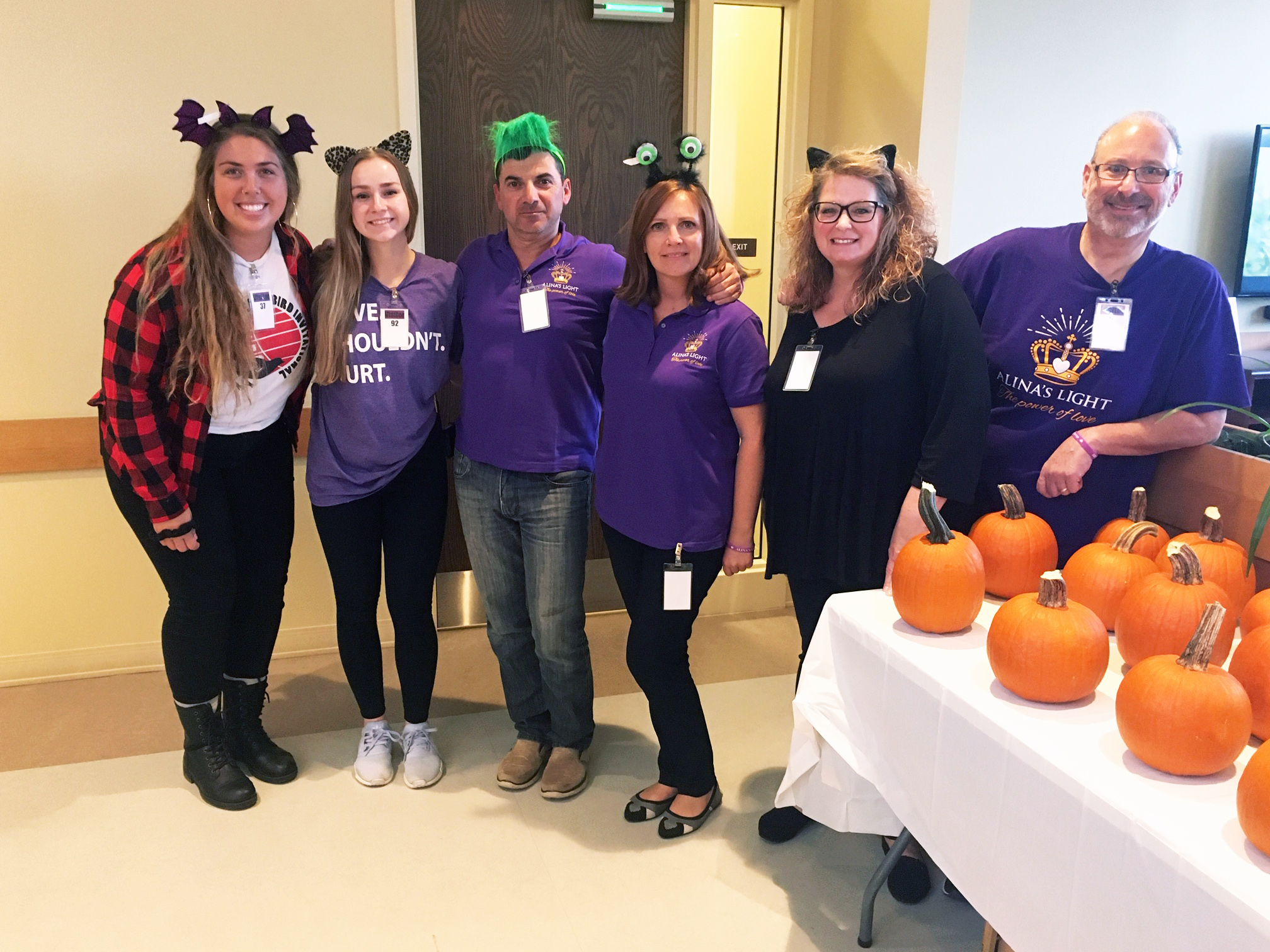 Carving Pumpkins at the Women's Shelter