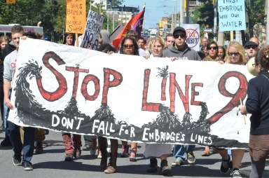 A Swamp Line 9 rally in Hamilton, Ontario, 2013. Photo Credit: Mike Roy