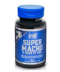 O Super Macho todo o poder do Azul em 30 Cápsulas - Intt ´é um suplemento multivitamínico masculino composto por afrodisíacos completamente naturais que vai potencializar seu desempenho na relação sexual