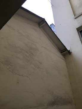 """The view up the """"courtyard"""" in my building--opposite direction."""