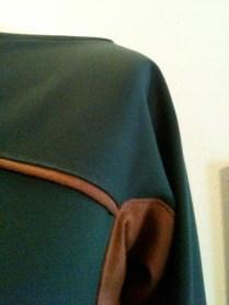 vestido verde tejidos