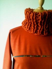 vestido detalle cuello