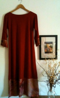 Vestido grana largo Long Maroon dress 70€
