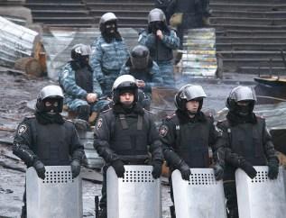"Police formation. ""Berkut"" on abckground"