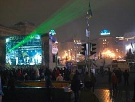 Maidan at night