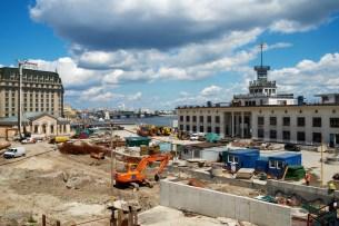 River Harbor reconstruction