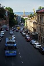 Downhill to the Odessa sea port