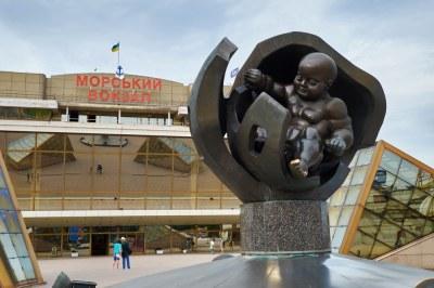 Square near Port of Odessa Passenger Terminal