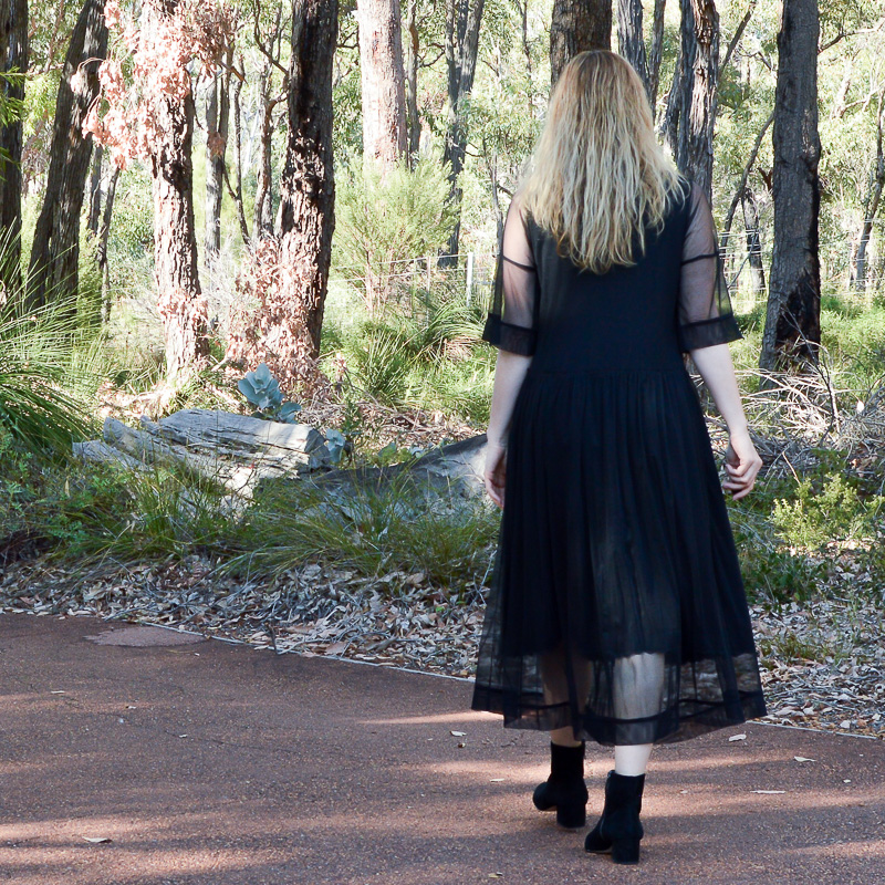 Zara black tulle dress