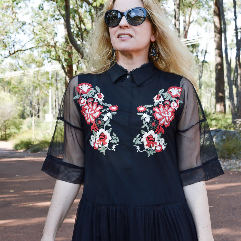 Zara-embroidered-tulle dress-