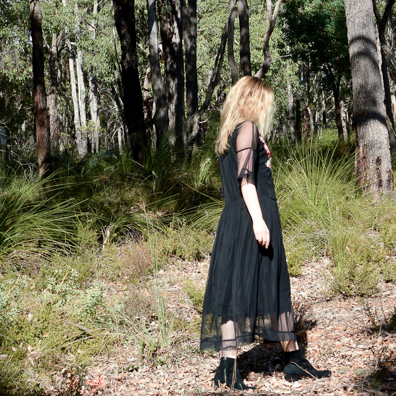 Zara tulle dress black
