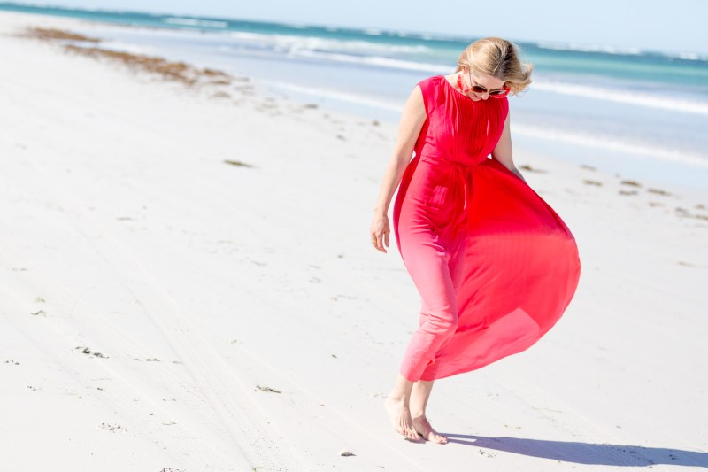 Red-pink-maxi-dress-beach-style-alipeat