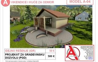 MODEL A-04, gotovi projekti vec od 50e, projekti, projektovanje, izrada projekata, house design, house ideas, house plans, interior design plans, house designs, house