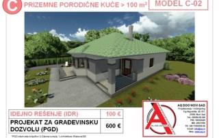 MODEL C-02, gotovi projekti vec od 50e, projekti, projektovanje, izrada projekata, house design, house ideas, house plans, interior design plans, house designs, house