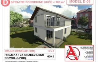 MODEL D-03, gotovi projekti vec od 50e, projekti, projektovanje, izrada projekata, house design, house ideas, house plans, interior design plans, house designs, house