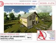MODEL E-27A, gotovi projekti vec od 50e, projekti, projektovanje, izrada projekata, house design, house ideas, house plans, interior design plans, house designs, house