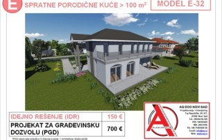MODEL E-32, gotovi projekti vec od 50e, projekti, projektovanje, izrada projekata, house design, house ideas, house plans, interior design plans, house designs, house