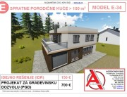 MODEL E-34, gotovi projekti vec od 50e, projekti, projektovanje, izrada projekata, house design, house ideas, house plans, interior design plans, house designs, house