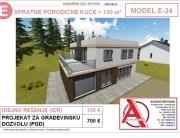 MODEL E-34, gotovi projekti vec od 50e, projekti, projektovanje, izrada projekata, house design, house ideas, house plans, interior design plans, house designs, house