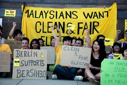 We want clean and fair elections!