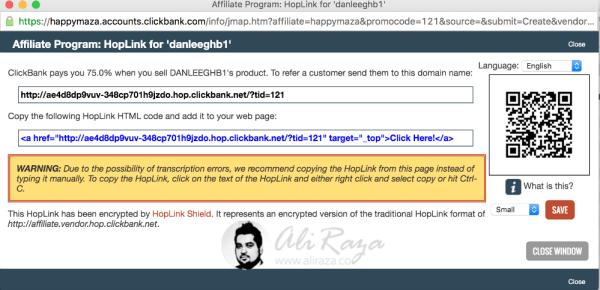 Clickbank hoplink 3