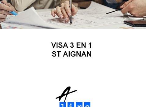 VISA 3 EN 1 ST AIGNAN
