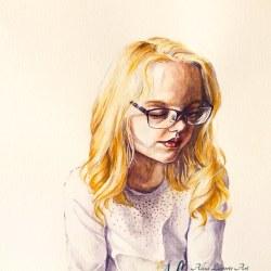 Reflection, watercolor