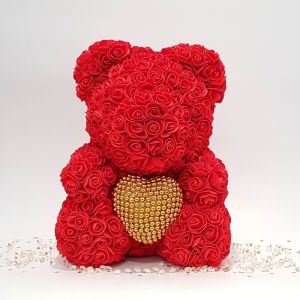 Red rose bear gift for valentine's day