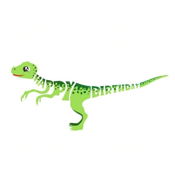 Green dinosaur banner
