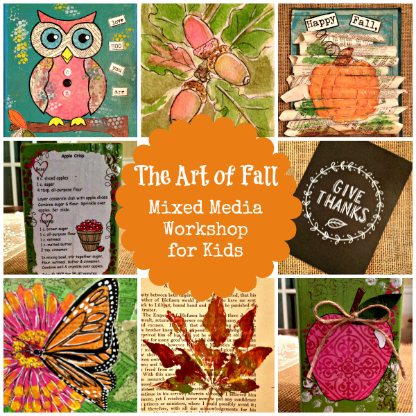 The Art of Fall: Mixed Media Art Course for Kids | Flourish | alishagratehouse.com
