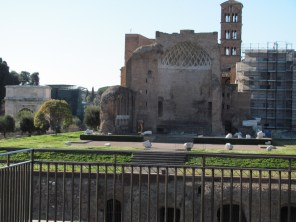 View over to the Temple of Venus and Rome