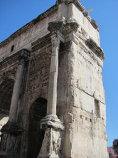 Arch of Septimus Severus - Note door in the side!