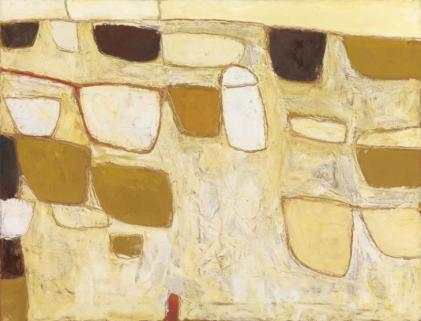 Ochre Still Life 1958 William Scott 1913-1989 Purchased 1962 http://www.tate.org.uk/art/work/T00505