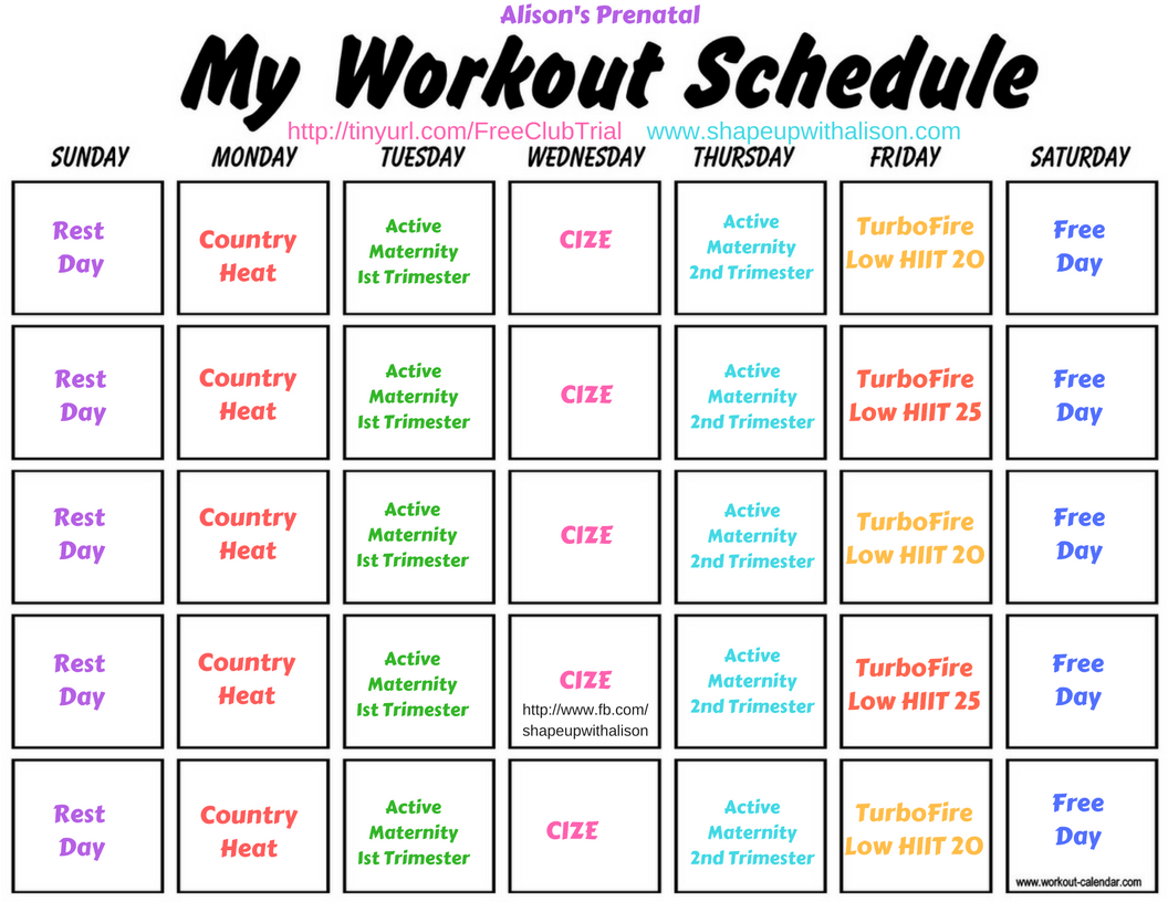 Beachbody Workout Schedule