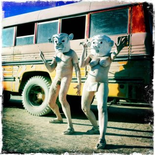 Mr and Mrs Mud - our performance costumes for Burning Man, Nevada 2011